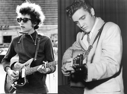 Can you guess which Bob Dylan songs Elvis Presley sang