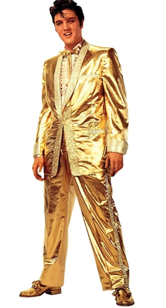 Elvis gold lamé suit
